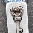 HEART KEY LOCK Friendship Love Pewter Puzzle Pendant