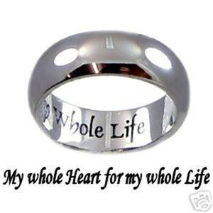 SIZE 6 Poesy or Promise Ring Whole Heart Whole Life Wedding CLEARANCE SALE