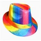 Gay Pride Fedora Hat Rainbow
