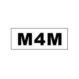 """M4M"" Gay Pride Bumper Sticker 3 x 8 inch"