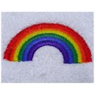 Gay Pride Rainbow Arch Bath Hand Towel Set Embroidered