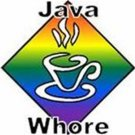 Java Whore Gay Pride Mug White Coffee Cup Rainbow Kitchen Lesbian