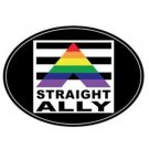 Gay Pride Straight Ally Auto or Truck Magnet Rainbow Euro Magnet