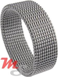 Womens Stainless Steel Mesh Ring Sizes 5 - 10