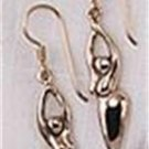 Sterling Silver Goddess Hook Earrings Lesbian Gay Pride