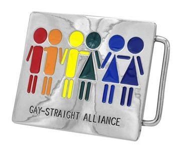 Belt Buckle Gay Straight Alliance Equality Love Is Love Is Love Rainbow