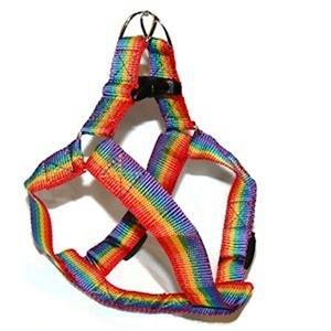 Gay Pride Nylon Dog Harness Rainbow Pet Harness