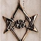 Bronze Unicursal Hexagram Solid Pendant Aquarian Star
