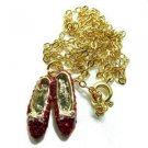 Wizard of Oz Ruby Red Slippers Pendant and Chain
