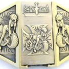 Biker Belt Buckle Removable Lighter Model on Motorcycle Harley Maltese Cross