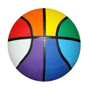 Gay Pride Rainbow Basketball Mini Size