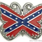 Rebel Flag Belt Buckle Butterfly Cut Out Southern Dixie Confederate Pride CSA