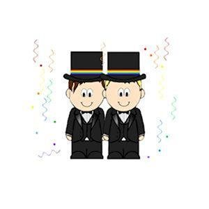 Gay Grooms Magnet Same Sex Wedding Refrigerator Magnet