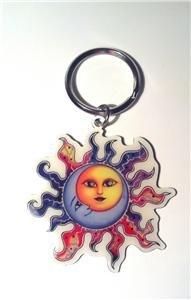 Metal Keychain Sun Moon Celestial by Dan Morris