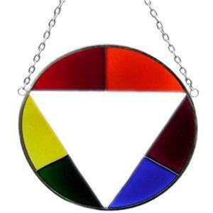 Gay Pride Circle Stained Glass Suncatcher Rainbow