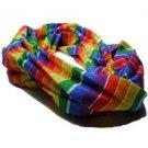 Gay Pride Rainbow Hair Scrunchie Cotton Lesbian