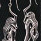 0.925 Sterling Silver Mermaid Hook Earrings