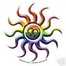 Lesbian Rainbow Sun Bumper Sticker Gay Pride