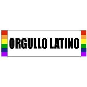 Orgullo Latino Sticker Gay Latino Pride Rainbow Sticker