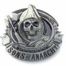Sons of Anarchy Reaper Belt Buckle Metal Biker Skull SAMCRO