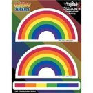 2 Rainbow Arch and 1 Strip Sticker Pack Lesbian Gay Pride