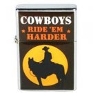 Cowboy Cigarette Lighter Cowboys Ride 'Em Harder