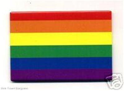 Gay Pride Flag Metal Refrigerator Magnet Lesbian