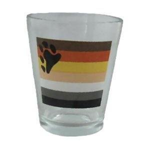 Bear Pride Flag Shot Glass Gay Pride Barware Bar Ware
