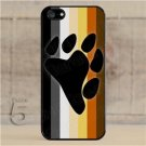 iPhone 5 Slim Hard Cell Phone Case Gay Bear Pride Flag w Bear Paw Slim Fit
