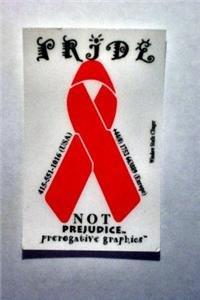 AIDS Awareness Ribbon Static Sticker Lesbian Gay Pride