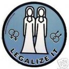 Lesbian LEGALIZE IT Bumper Sticker Female Gay Marriage