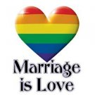 Marriage is Love Gay Pride Rainbow Sticker