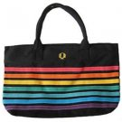 Gay Pride Rainbow Beach Bag Tote Bag Black Background