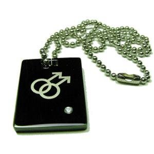 Gay Mens Titanium Dog Tag Pendant Double Male Gay Pride