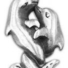 Embracing Dolphins Pewter Pendant Necklace Loving
