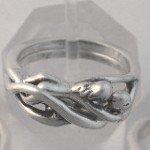 Silver WOMAN / WOMAN Embrace Puzzle Ring LESBIAN Gay
