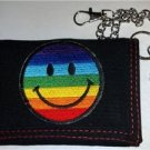 Gay Pride Smiley Wallet Trifold Rainbow Smile Face