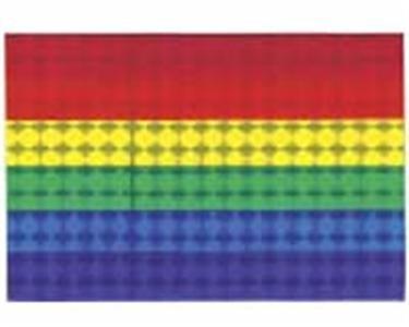 Gay Pride Rainbow BABY HOLO Strip Sticker 0.25 x 3.5 inch Holographic Reflective