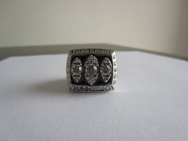 REPLICA 1983 Super bowl XVIII CHAMPIONSHIP RING Los Angeles raiders Player Mccall 11S Solid Back