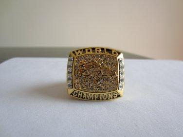 REPLICA 1997 Denver Broncos Super bowl XXXII CHAMPIONSHIP RING 11S Player ELWAY NIB