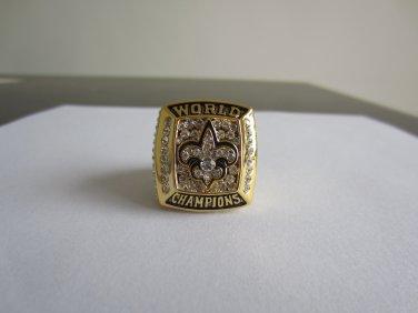 REPLICA 2009 Super bowl  XLIV CHAMPIONSHIP RING New Orleans Saints MVP Player Drew Brees 11S NIB