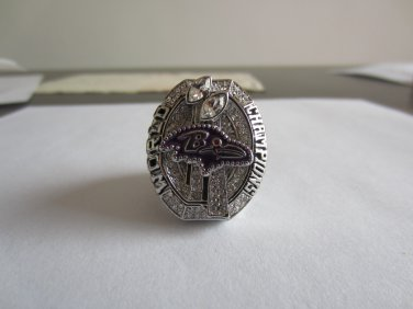 REPLICA 2012 Super bowl  XLVII CHAMPIONSHIP RING Baltimore Ravens 11S NIB MVP Joe Flacco