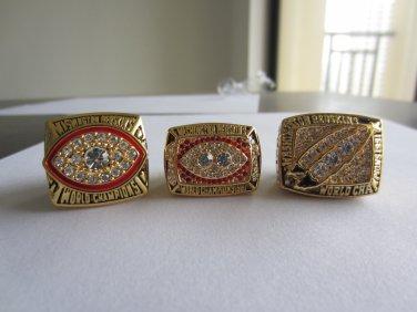 One set 3PCS 1982 1987 1991 Washington Redskins Super bowl CHAMPIONSHIP RING 11S NIB