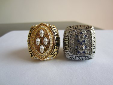 2PCS 1977 1993 DALLAS Cowboys Super bowl CHAMPIONSHIP RING  player THORNTON 11S NIB