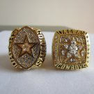 2pcs 1992 1995 DALLAS COWBOYS Super bowl  CHAMPIONSHIP RING MVP AIKMAN 11S NIB