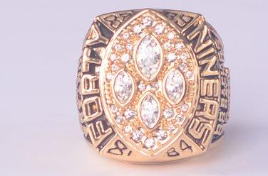 NFL 1989 San Francisco 49ers Super bowl  XXIV CHAMPIONSHIP RING  MVP Player Montana 11S NIB