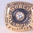 NFL 1974 Super bowl  IX CHAMPIONSHIP RING Pittsburgh Steelers Player Lambert 11S Solid back
