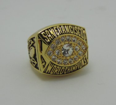 NFL 1981 San Francisco 49ers Super bowl XVI CHAMPIONSHIP RING Player Montana 11S Solid