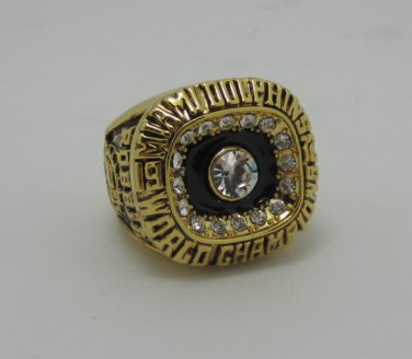 NFL 1972 Miami Dolphins super bowl ring replica size 11 US