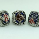 One Set 3PCS 2004 2007 2013 Boston Red Sox  MLB Baseball World series Championship ring 11S